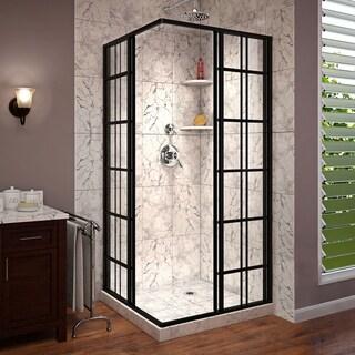 DreamLine French Corner 40 1/2 in. D x 40 1/2 in. W x 72 in. H Framed Sliding Shower Enclosure - 40.44 x 40.44