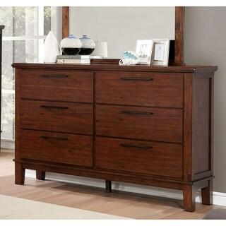 Copper Grove Senaki Brown Cherry 6-drawer Dresser