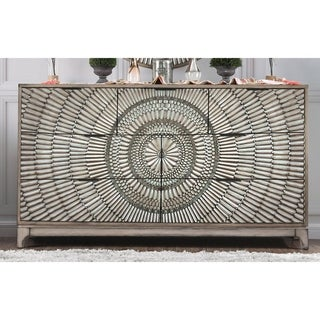 The Curated Nomad Levant Transitional Antique Grey 7-drawer Dresser