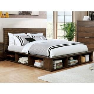 Strick & Bolton Naoko Rustic Walnut Bookcase Bed