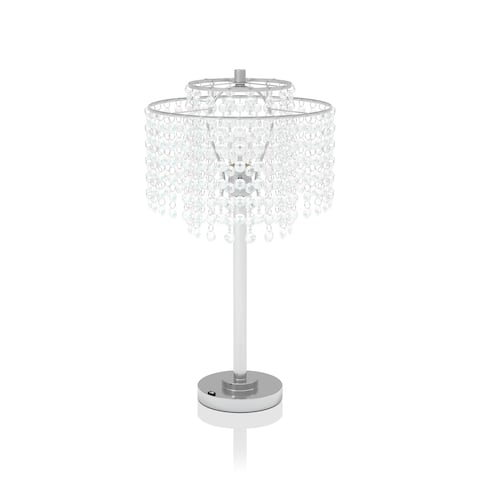 Silver Orchid Nissen Glam Chrome Table Lamp