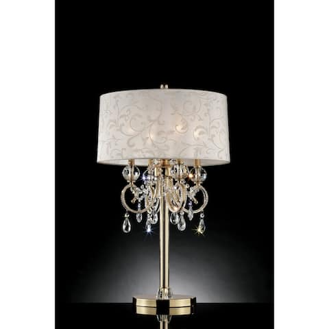 Gracewood Hollow Selimovic Glam Goldtone Table Lamp