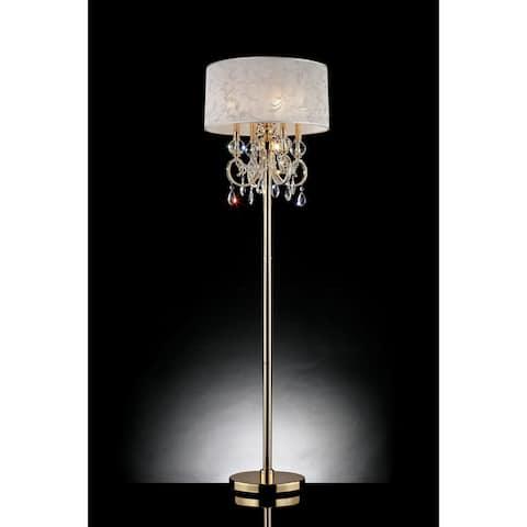 Furniture of America Kilt Glam Gold Metal Floor Lamp