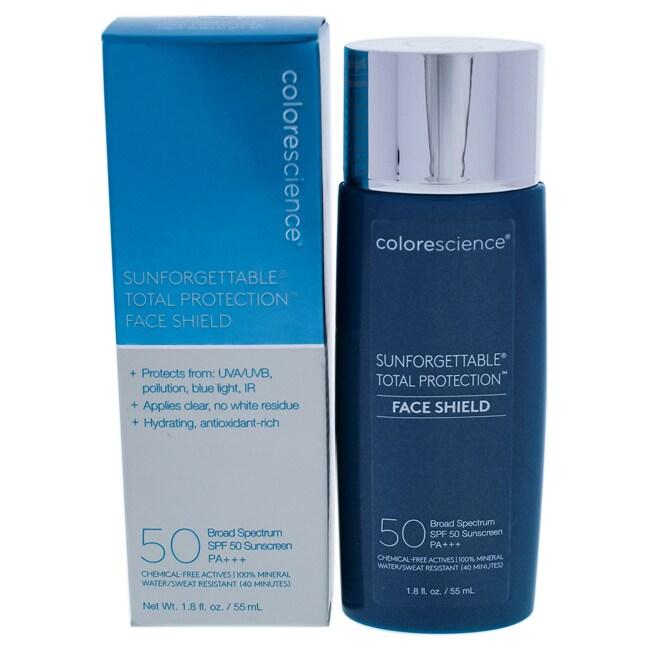 ColoreScience Sunforgettable Total Protection Face Shield SPF 50 1.8 fl oz / 55 ml (Blue/Silver - Facial Sunscreen)