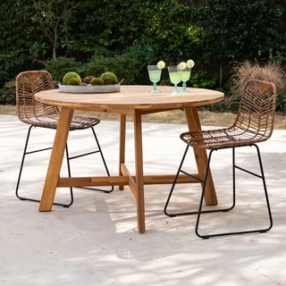 Havenside Home Abigail Contemporary Natural Wood Outdoor Dining Table