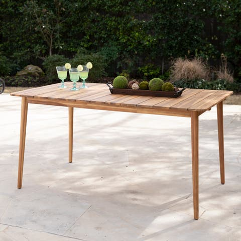 Havenside Home Aventura Contemporary Natural Wood Outdoor Dining Table