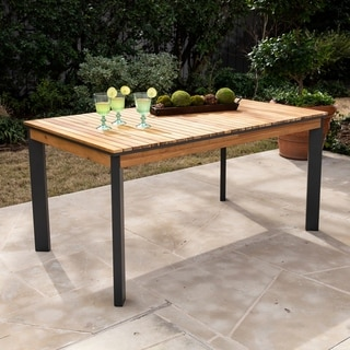 Havenside Home Viola Natural/ Gray Wood Outdoor Dining Table