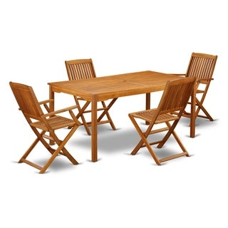 CMCM52CANA 5 Pc Acacia Wood Outdoor Patio Set offers an Outdoor Table & 4 Foldable Chairs