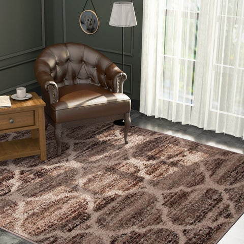 Furniture of America Cameron Contemporary Brown Area Rug - 5'3' x 7'6'