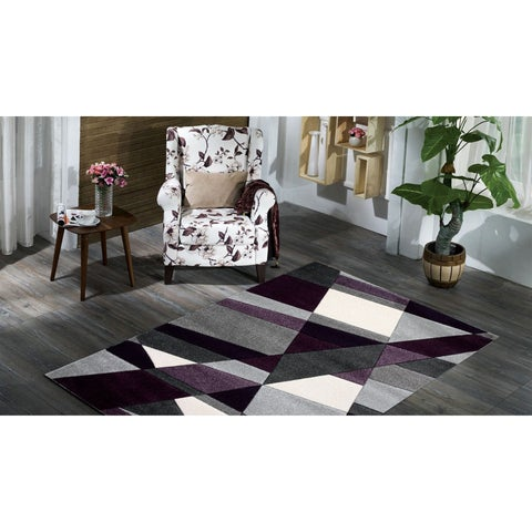 Furniture of America Nerissa Grey Contemporary Area Rug - 5'4 x 7'5