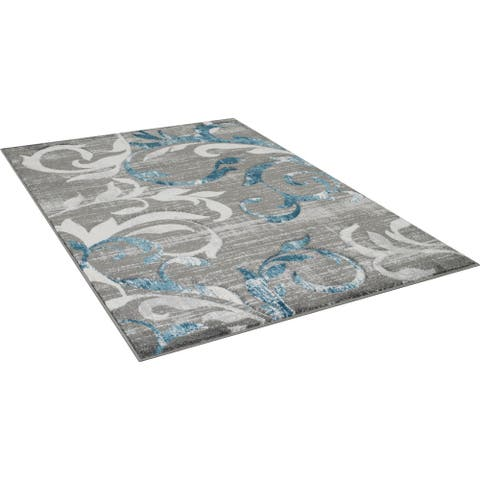 Furniture of America Mese Contemporary Grey Area Rug (5' X 7') - 5' x 7'2''