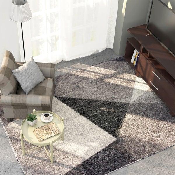 Furniture of America Rico Contemporary Grey Area Rug - 5'3'' x 7'6''