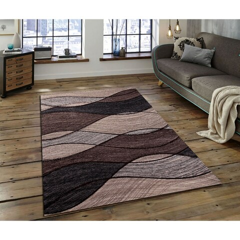 Furniture of America Nerissa Contemporary Brown Area Rug - 5'4 x 7'5