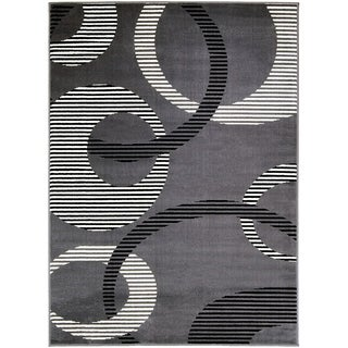 Furniture of America Yuch Contemporary Grey Area Rug (5' X 7') - 5' x 7'