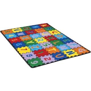 Furniture of America Cayden Kids Playtime ABC Alphabet Multi-color Area Rug - 5' x 7'