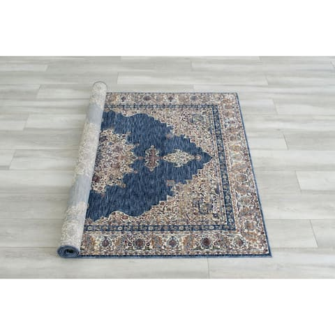 Furniture of America Ranvier Traditional Blue Area Rug (5' X 7') - 5' x 7'