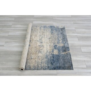 Furniture of America Ranvier Contemporary Blue Area Rug (5' X 7') - 5' x 7'