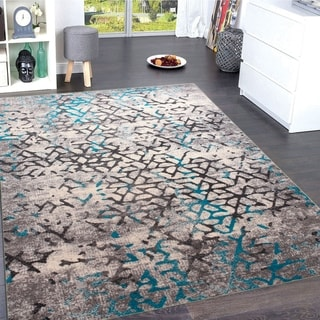 The Curated Nomad Lansing Contemporary Grey Area Rug - 5'4'' x 7'5''