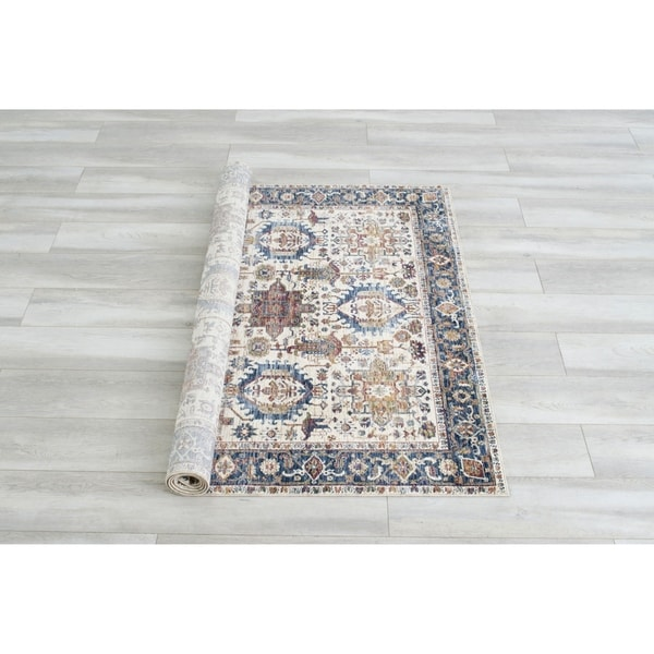 Furniture of America Ranier Traditional Multi-Color Area Rug - 5' x 7'