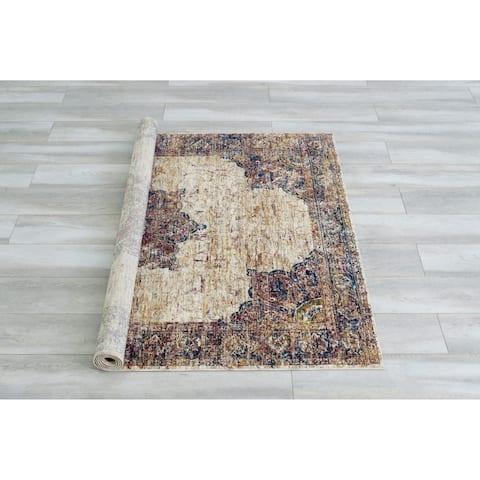 Furniture of America Ranvier Traditional Multicolor Area Rug - 5' x 7'