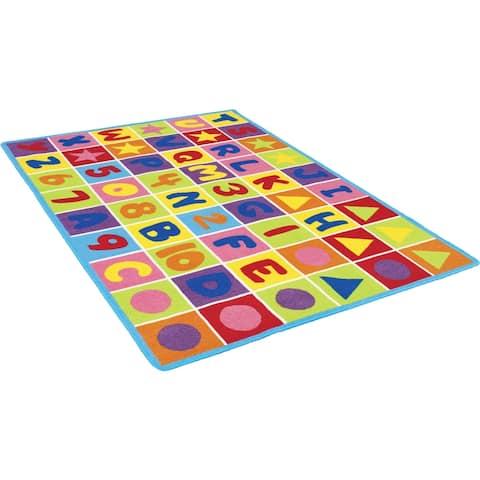 Furniture of America Casten Kids Playtime 123 Number Multi-color Area Rug - 5' x 7'