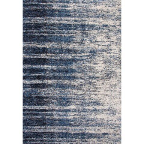 Furniture of America Cameron Blue Contemporary Area Rug - 5'3 x 7'6