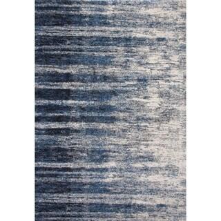 Furniture of America Pinn Contemporary Blue Viscose Indoor Area Rug - 5'3'' x 7'6''
