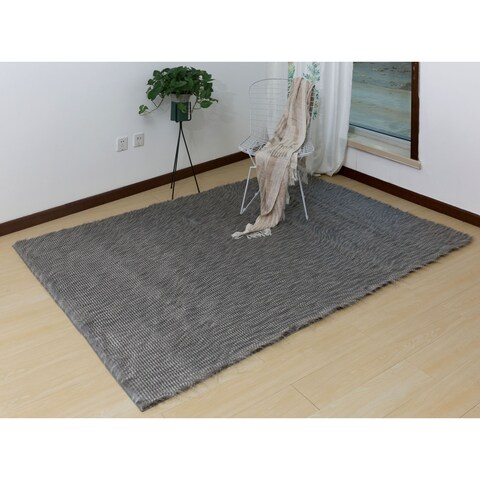 Furniture of America Gwendolyn Contemporary Feather Area Rug - 5'3' x 7'6'