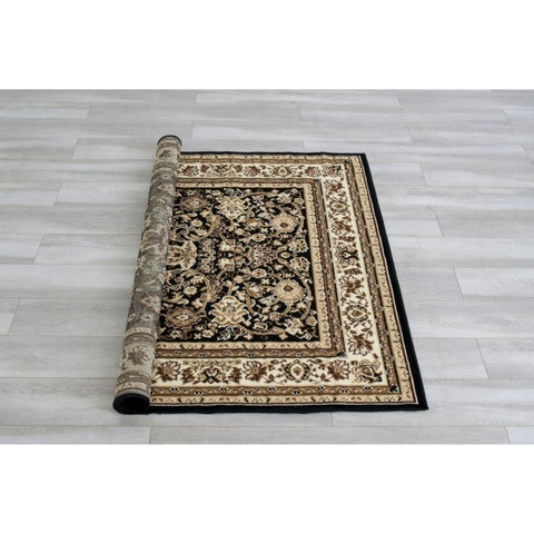 Yarmouth Traditional Brown Area Rug by FOA - 5' x 8'