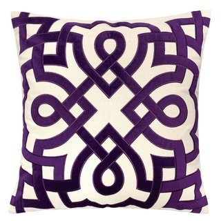 Furniture of America Juct Contemporary Purple Accent Pillows Set of 2