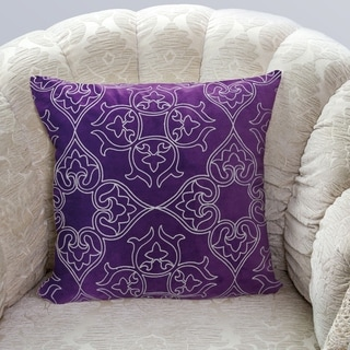 Gracewood Hollow Hadzic Contemporary Purple Accent Pillows (Set of 2)