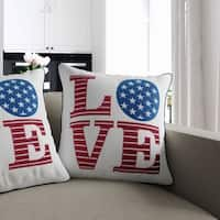 Liberty Contemporary White Accent Pillows (Set of 2) by FOA
