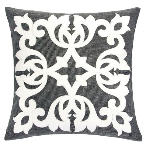 Gracewood Hollow Ibrisimov Contemporary Linen Accent Pillows (Set of 2)