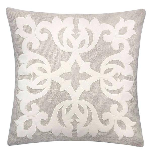 Furniture of America Melva Contemporary Linen Accent Pillows (Set of 2)