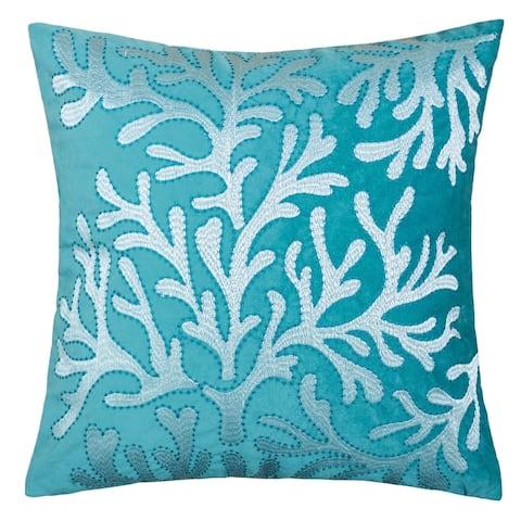 Porch & Den Vinemaple Velvet Sea Life Accent Pillows (Set of 2)
