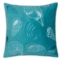 Furniture of America Wavely Coastal Teal Accent Pillows (Set of 2)