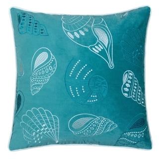 Porch & Den Vincent Teal Sea Shell Accent Pillows (Set of 2)
