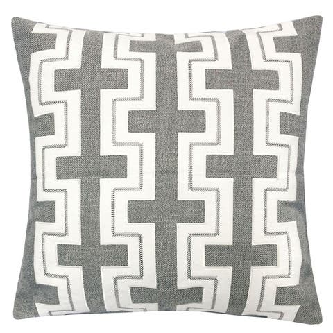 The Curated Nomad Geometric Linen Contemporary Accent Pillows (Set of 2)