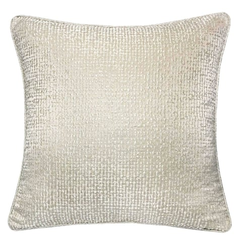 Silver Orchid Purviance Cotton/Linen Modern Accent Pillow (Set of 2)