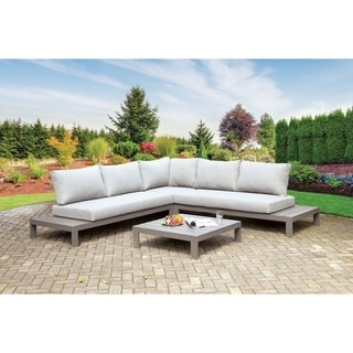 Havenside Home Covelo Grey L-Shaped Patio Sectional