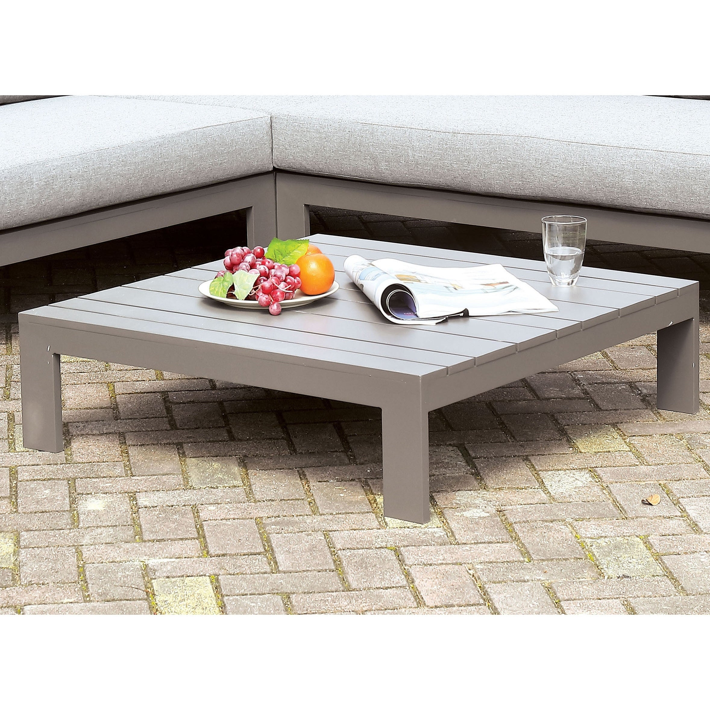 - Shop Havenside Home Covelo Grey Patio Coffee Table - Overstock