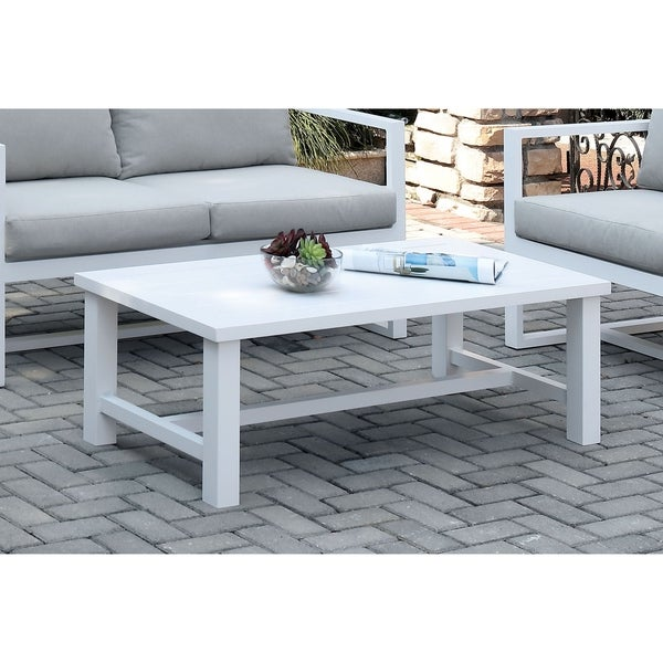 Overstock White Coffee Table.Shop Marino Contemporary White Coffee Table By Foa Free Shipping