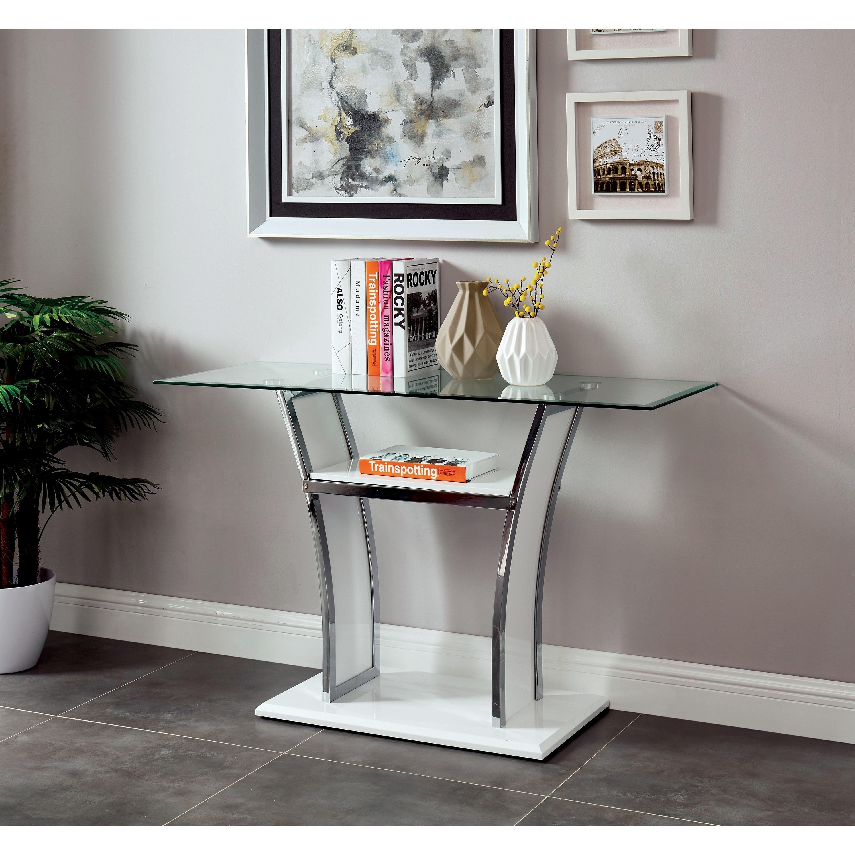 Metal Gl Top Sofa Table