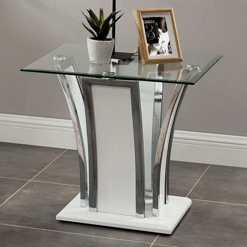 Silver Orchid Brian Modern End Table