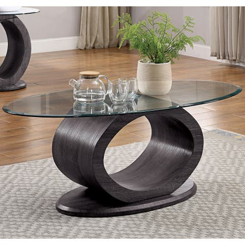 Strick & Bolton Totte Contemporary Grey O-shaped Coffee Table