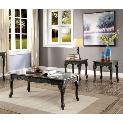 Furniture of America Regency Traditional Grey 3-piece Accent Table Set