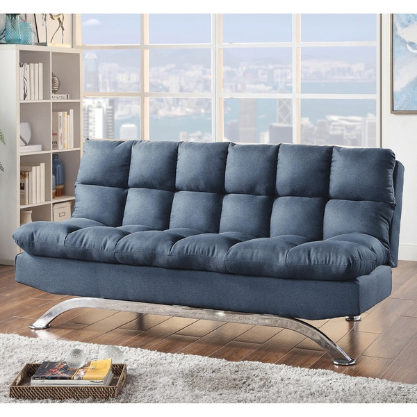 Copper Grove Kobuleti Blue Futon Sofa