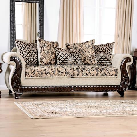 Furniture of America Hasanov Traditional Beige Sofa