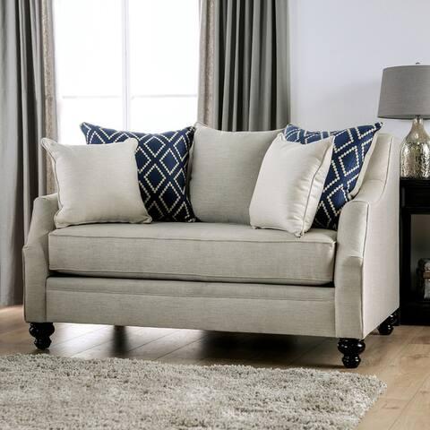 Furniture of America Melansyn Transitional Loveseat