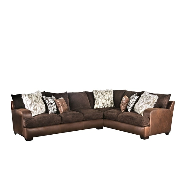 Furniture of America Rolt Contemporary Fabric L-shape Sectional